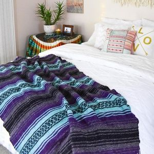 Other - Mexican Blanket / Purple Surf Boho Blanket